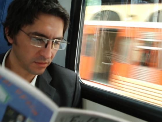 Man Reading a Magazine