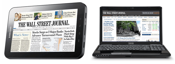 Wall Street Journal Online and Mobile Versions