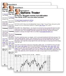 Sample Pages from Options Trader
