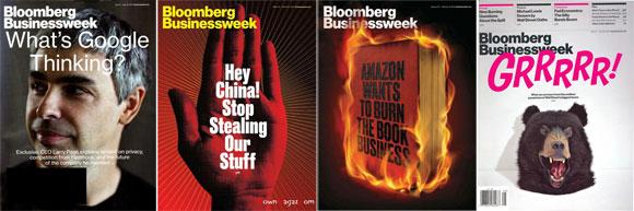 Examples of Bloomberg Businessweek Magazine